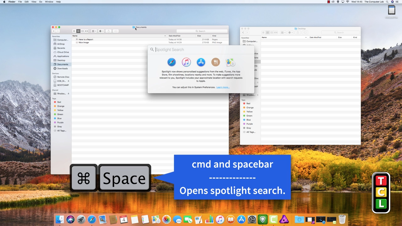 cmd+spacebar, shortcut mac-artikel